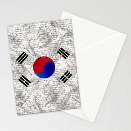 Urban Brick South Korea Flag Stationery Cards