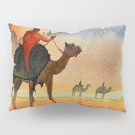 Camel Riders Alongside the Taj Mahal Pillow Sham
