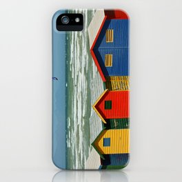 southafrica ... muizenberg beach huts II iPhone Case
