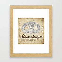 July Marriage Framed Art Print