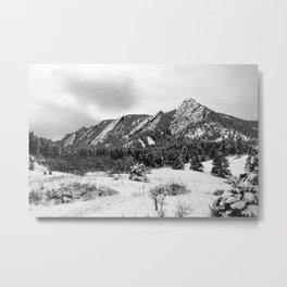 Flatirons - Neopan 1600 Metal Print