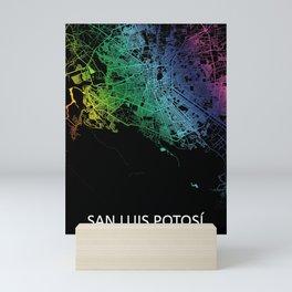 San Luis Potosí, San Luis Potosi, Mexico, City, Map, Rainbow, Map, Art, Print Mini Art Print