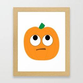 Pumpkin Emoji Rolling Eyes #society6 Framed Art Print