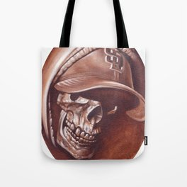 skull and cap Tote Bag