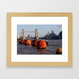 The River Thames, London, England Framed Art Print