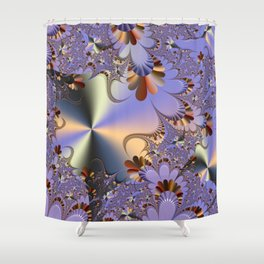 Metallic Shine with Fractals Shower Curtain