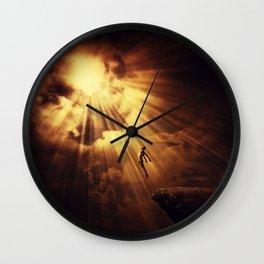 psychokinesis dark light Wall Clock