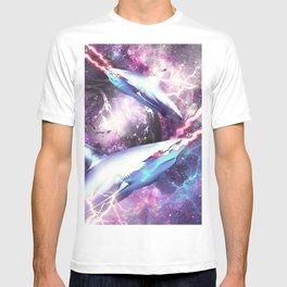 Laser Beam Eyes Shark In Space T-shirt