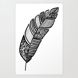 fine art feather Art Print