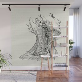 Arteries of the Neck Vintage Medical Illustration Wall Mural