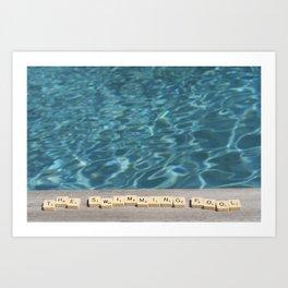 Swimming-pool Art Print