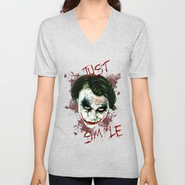 Heath Ledger's Joker! Unisex V-Neck