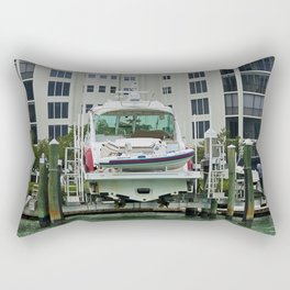 The Lady in Red Rectangular Pillow