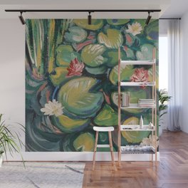 Lilies and Pads Wall Mural