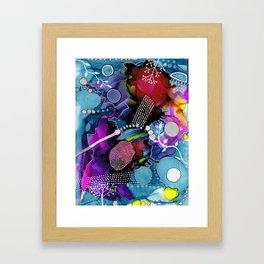 Dark Reef of Currant and Indigo Framed Art Print