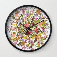 hexagon Wall Clocks featuring Hexagon by Ouizi - Los Angeles