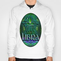 astrology Hoodies featuring Libra Zodiac Sign Astrology by CAP Artwork & Design