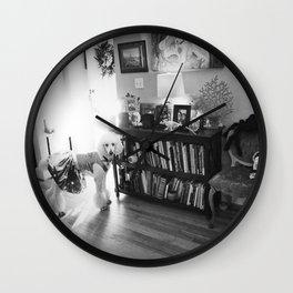 """""""Ziggy Star-Dog"""" by Lindsay Wiggins Wall Clock"""