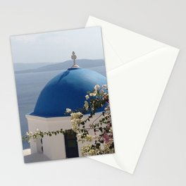 Santorini heights Stationery Cards