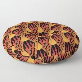 SCORCH pattern [BLACK] Floor Pillow