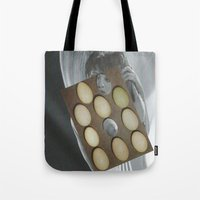 eggs Tote Bags featuring eggs by anitaa