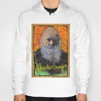 darwin Hoodies featuring Charles Darwin by Ibbanez