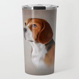 Drawing Dog Beagle 12 Travel Mug