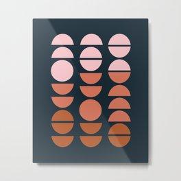 Modern Desert Color Shapes Metal Print