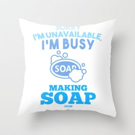Soap wash soap maker Throw Pillow