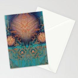 Ayahuasca - Geometric Design - Fractal - Manafold Art Stationery Cards