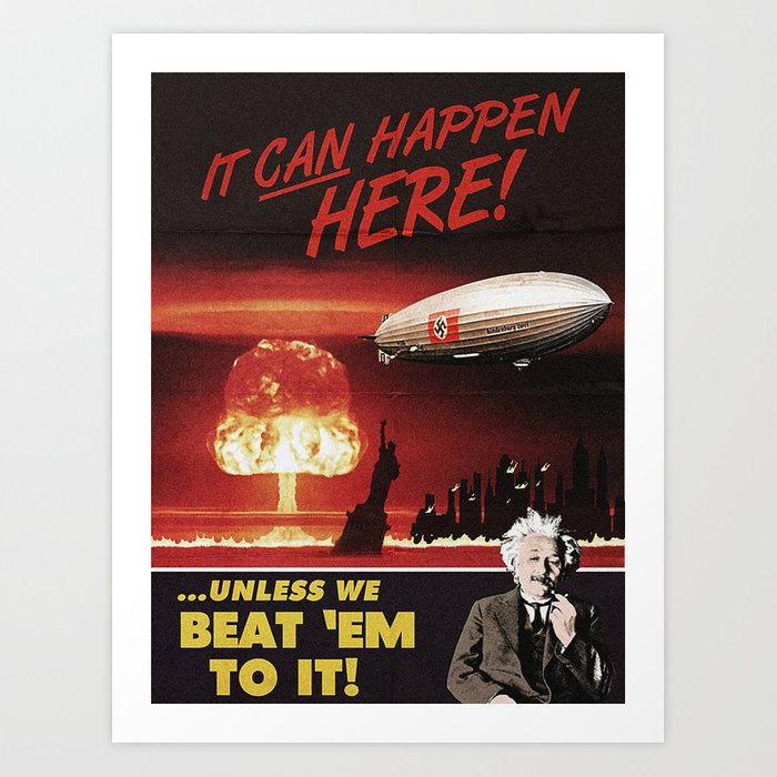 Einstein Propaganda Style Art Print