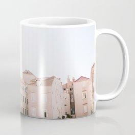 Walls of Dubrovnik   Pastel travel photography Croatia   Wanderlust vibes print Coffee Mug