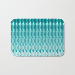 Leaves in the moonlight - a pattern in teal Bath Mat