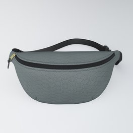 PPG Night Watch Pewter Green Multi Striped Tiny Scallop Wave Pattern Fanny Pack