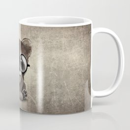 Cute Nerdy Raccoon Wearing Glasses Coffee Mug