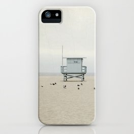 Lifeguard Towers with Birds iPhone Case