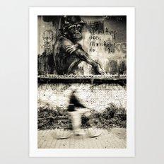 monkey see, monkey do. Art Print