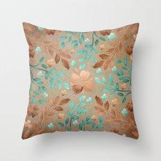 Copper Autumn Throw Pillow