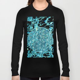 Flower of life in the water Long Sleeve T-shirt