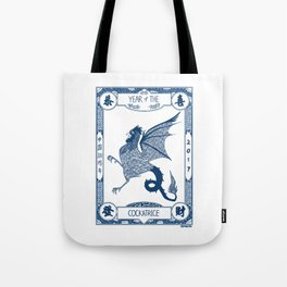 Year of the Cockatrice (Porcelain) Tote Bag