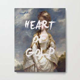 HEART OF GOLD Art Print Metal Print