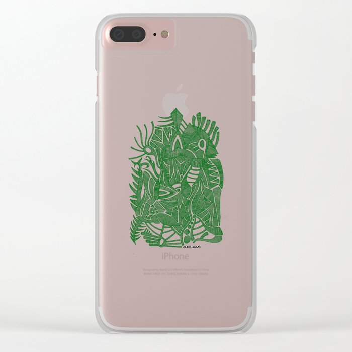 - green hope - Clear iPhone Case