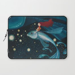 flying with fish Laptop Sleeve