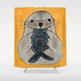 Fishy Seal Shower Curtain