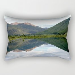 View of the Red Mountains above Ironton Park, from Crystal Lake Rectangular Pillow