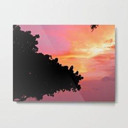 Divi Divi Tree Sunset Metal Print