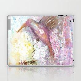 Hummingbird Watercolor Illustration Laptop & iPad Skin