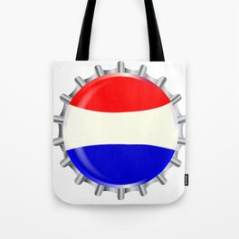 Red White And Blue Bottle Cap Tote Bag