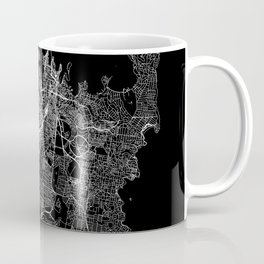 Sydney Black Map Coffee Mug