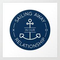 RelationShip 1 Art Print